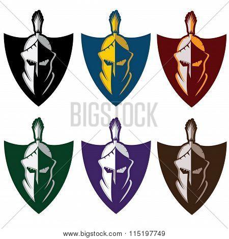 Crests With Spartan Warrior