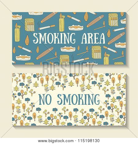 Banners about smoking