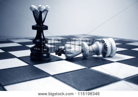 Chess Queen And Fallen King