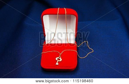 Key Pendant In Red Box