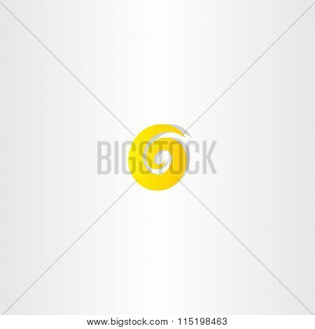 Number Six 6 Yellow Logo Vector