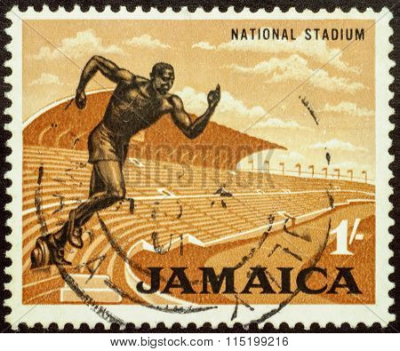 National Stadium In Jamaica On Postage Stamp