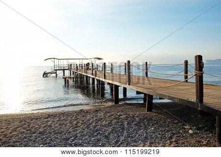 Pier on the seacoast
