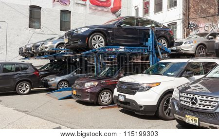 Small Multi-level Parking In New York City