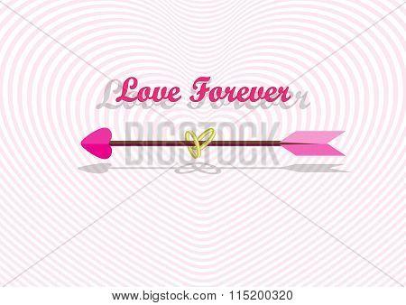 Love Arrow In Heart Tunnel