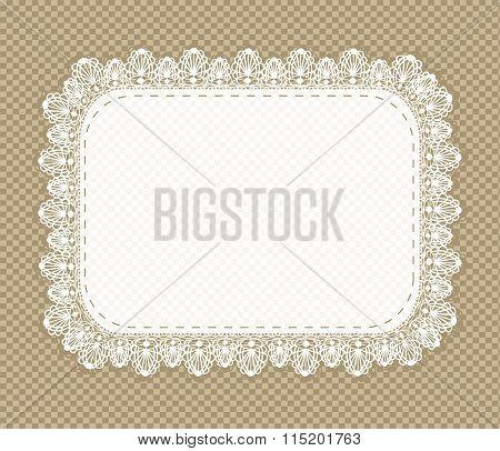 Vintage Lace Napkin Frame
