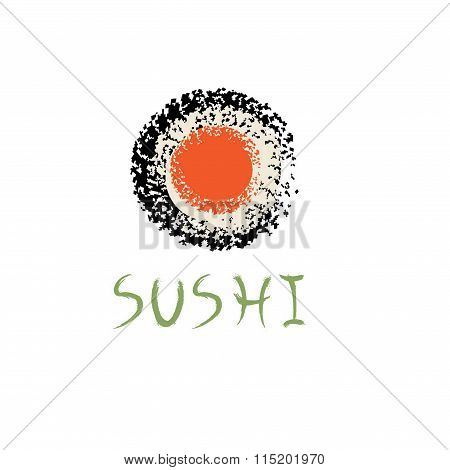 Sushi Roll Abstract Vector Design Template
