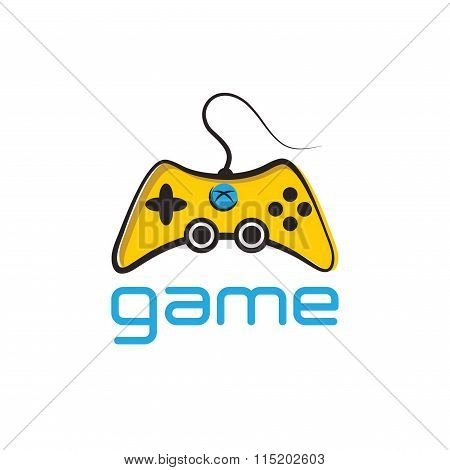 Illustration Of Game Pad Icon Vector Symbol Background