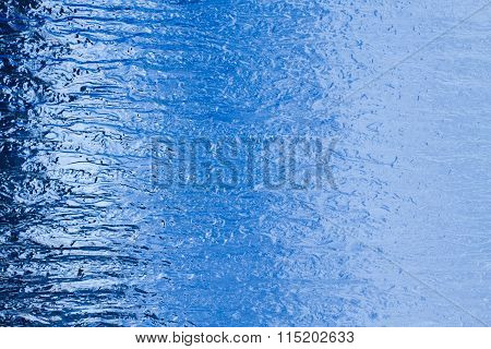 Frosted glass background.