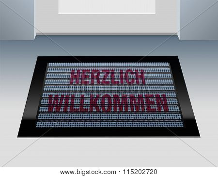 Welcome German Doormat