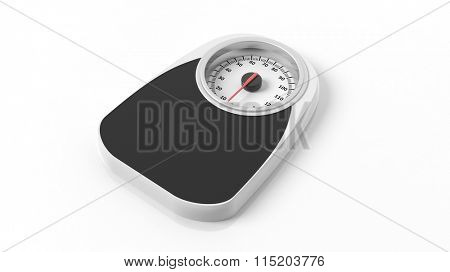 Bathroom scale, isolated on white background.