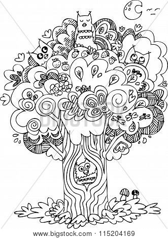 Coloring tree with owls