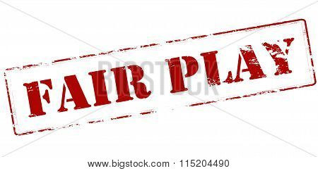 Rubber stamp with text fair play inside vector illustration
