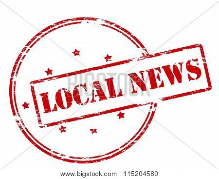 Rubber stamp with text local news inside vector illustration