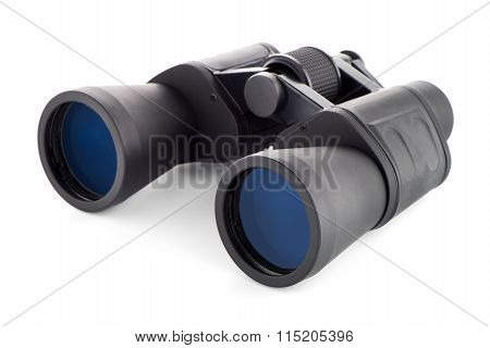 Black Binoculars Isolated