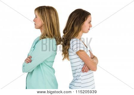 Mother and daughter are angry after a dispute