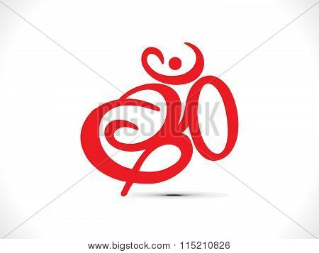Abstract Artistic Om Text