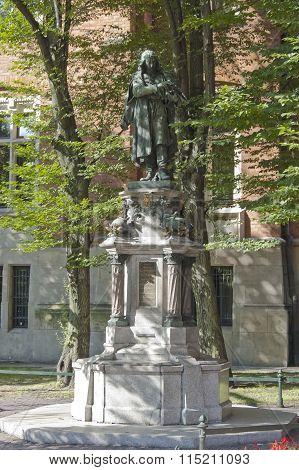 Nicolaus Copernicus Monument In Krakow