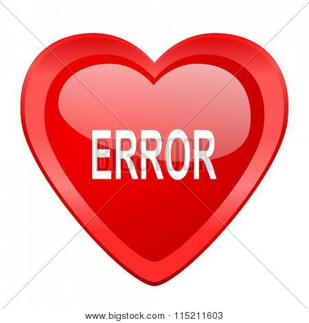 error red heart valentine glossy web icon