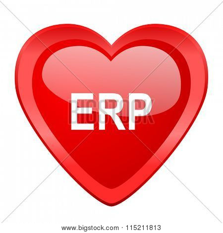 erp red heart valentine glossy web icon