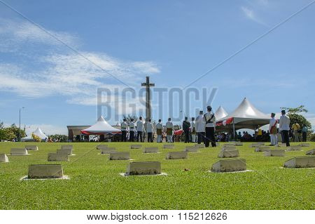 Rememberance Day At Veteran Memorial Park Labuan FT, Malaysia
