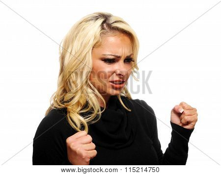 Mad, Angry Blond Woman