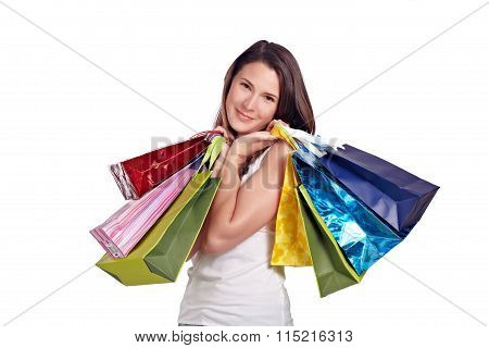 Young Woman After Shoppingtour