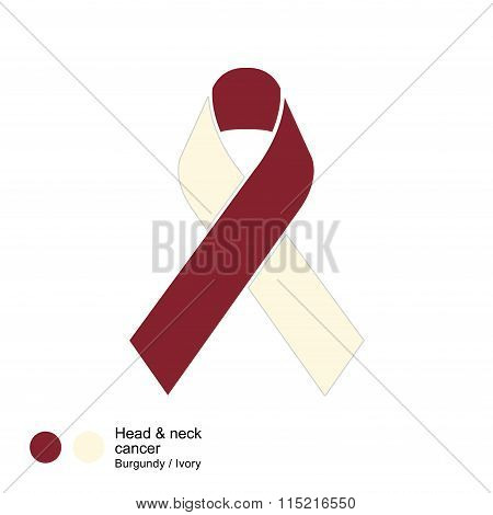 head and neck cancer ribbon vector