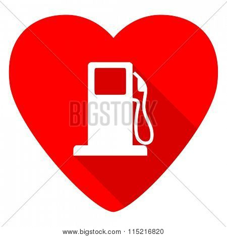 petrol red heart valentine flat icon