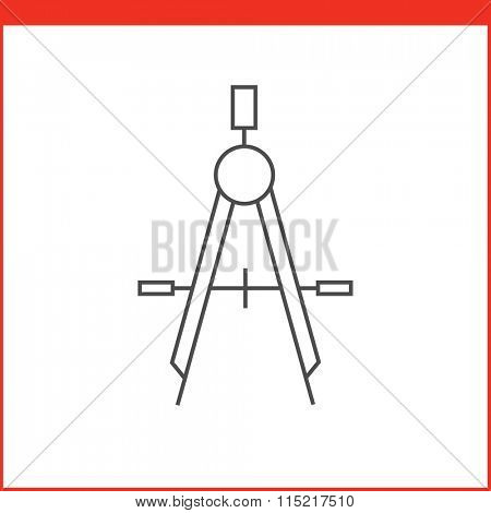 Compass drawing tool icon. Vector graphics designer tool. Simple outlined vector icon in linear style