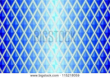 Blue Diamond Shaped Quadrangle
