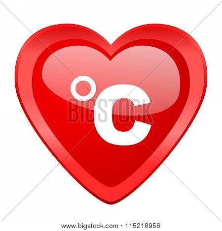 celsius red heart valentine glossy web icon