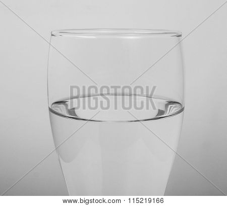 Black And White Glass Of Water