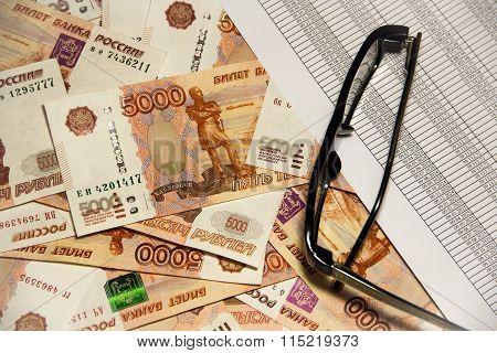 Heap Of Five Thousand Russian  Ruble