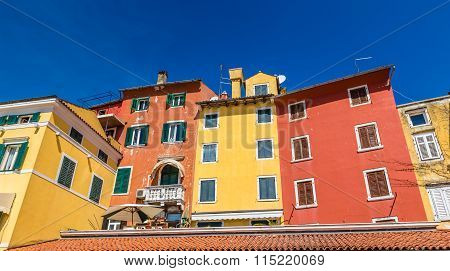 Buildings With Colorful Facade And Shutter-croatia