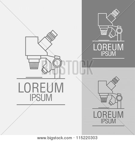 Vector Sign Template. Microscope.