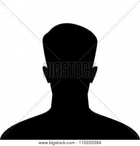 Male Avatar Icon, Silhouette Profile Icon