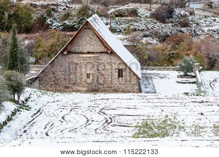 Ancient Orthodox Christian Church Of Panagia Podithou  Cyprus