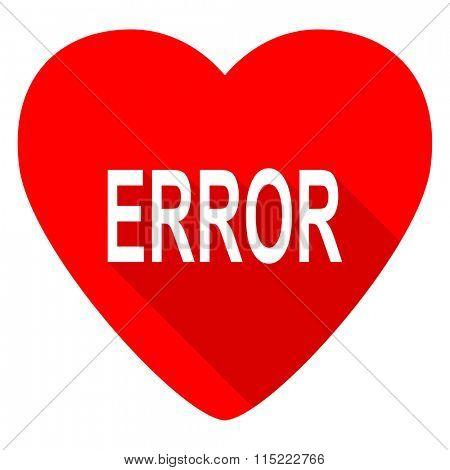 error red heart valentine flat icon