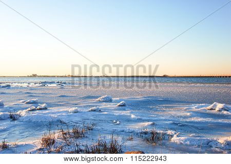 Coastal Winter View At The Baltic Sea