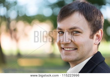 Attractive Young Man Outdoor Portrait