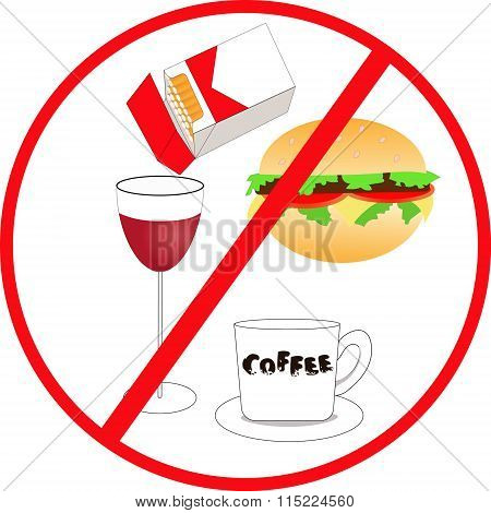 unhealthy food and drink