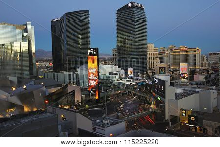 An Early Morning Harmon And Las Vegas Blvd Shot