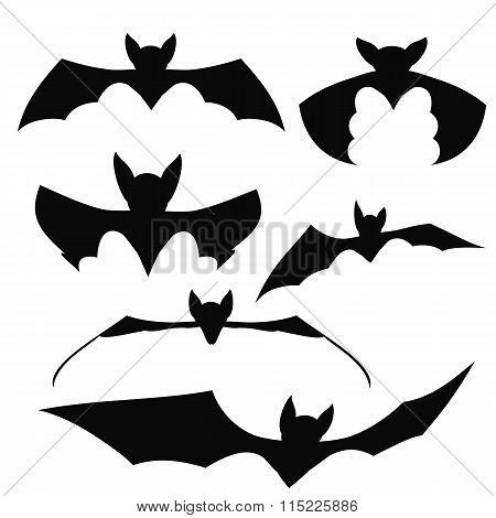 Bats Black Silhouettes