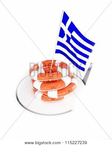 Ife Buoy Help Flags Greece