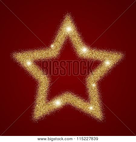 gold star shining light