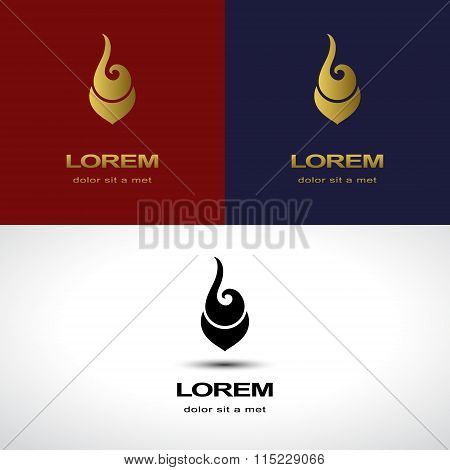 Abstract Design Template. Fashion Spa Medicine Symbol. Jewelery Cosmetology Pharmacy Sign. Busi