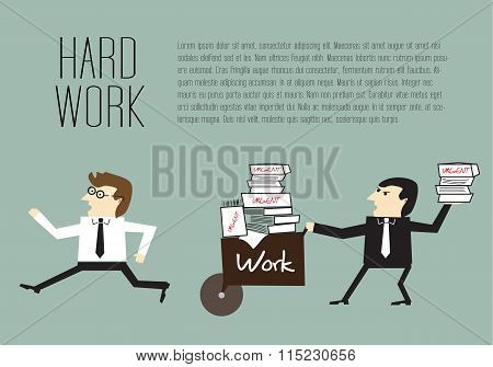 Businessman Are Avoiding The Hard Work