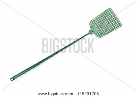 Plastic Fly Swatter Isolated On White With Clipping Path
