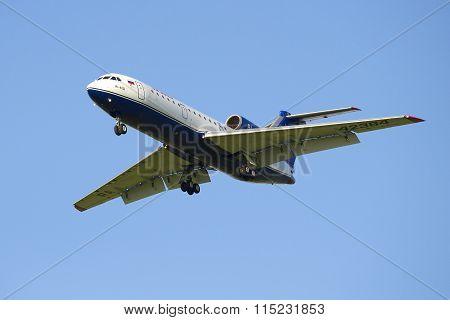 Flying the Yak-42D (RA-42384) company Izhavia